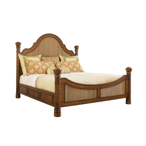 Island Estate Light Tan Round Hill Bed