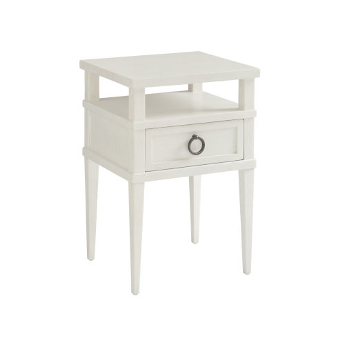 Ocean Breeze White Collier Night Table