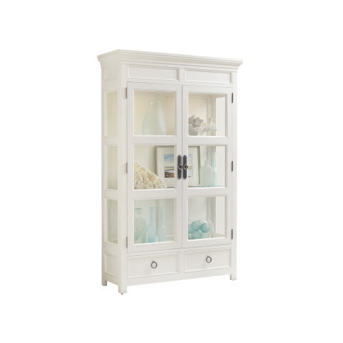 Ocean Breeze White Sanctuary Curio China Cabinet