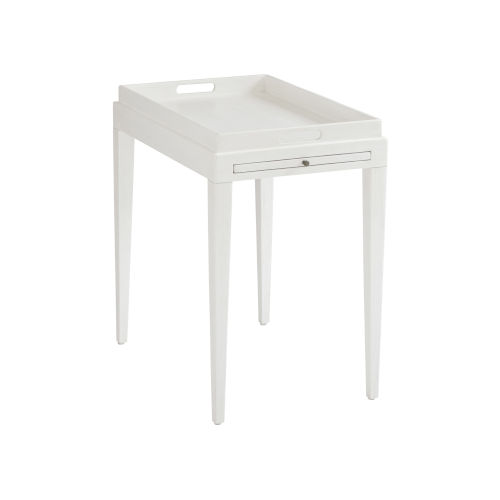 Ocean Breeze White Broad River Rectangular End Table