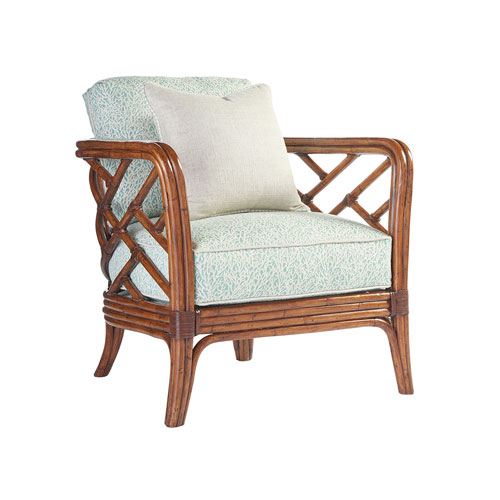 Island Estate Brown and Green Palm Chair