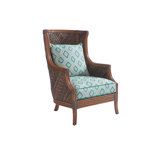 Bali Hai Brown and Aqua Rum Beach Chair
