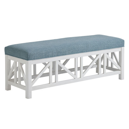 Ocean Breeze White and Blue Birkdale Bench