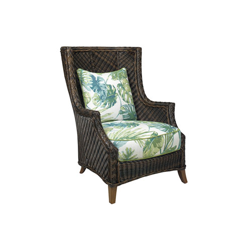 Island Estate Lanai Brown, Ivory and Green Wing Chair