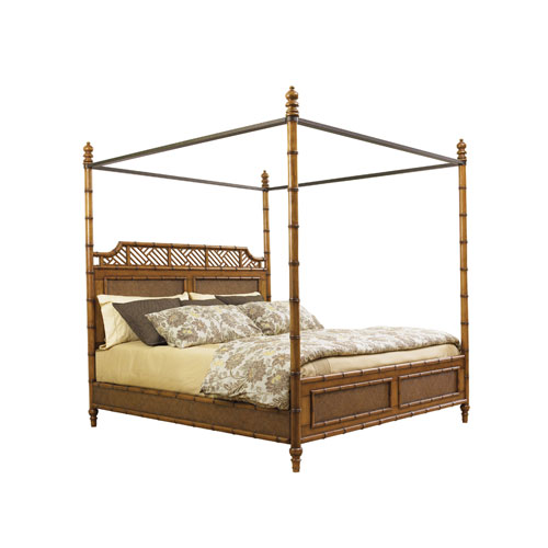 Island Estate Brown West Indies King Bed