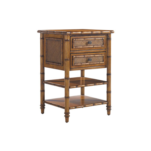 Island Estate Brown Ginger Island Bedside Chest