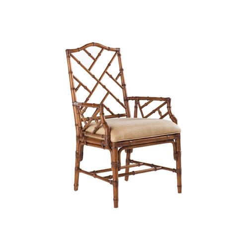 Island Estate Brown and Ivory Ceylon Arm Chair