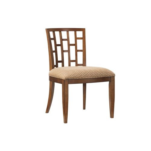 Ocean Club Brown and Tan Lanai Side Chair