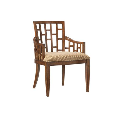 Ocean Club Brown and Tan Lanai Arm Chair
