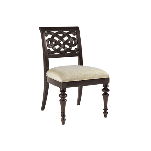 Royal Kahala Mahogany and Ivory Molokai Side Chair
