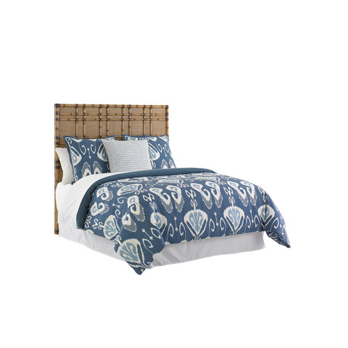 Twin Palms Brown Coco Bay Queen Panel Headboard