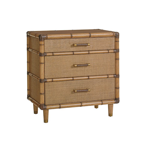 Twin Palms Brown Parrot Cay Nightstand