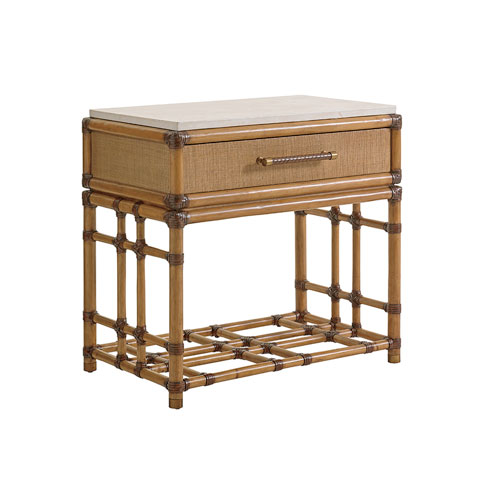 Twin Palms Brown Cordoba Open Nightstand