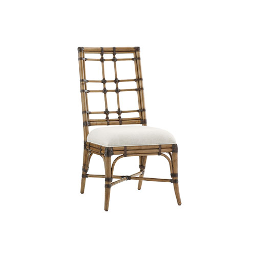 Twin Palms Brown and White Seaview Side Chair