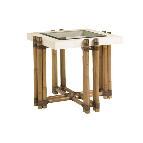 Twin Palms Brown Los Cabos Lamp Table