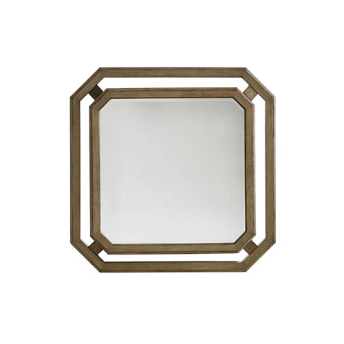 Cypress Point Antique Brass Callan Square Mirror