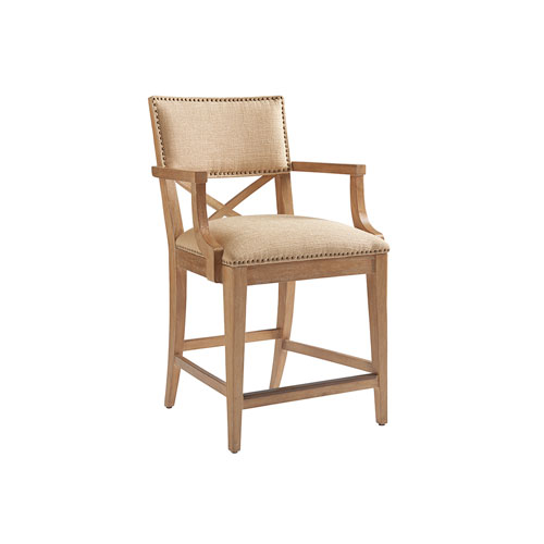 Los Altos Gold Sutherland Upholstered Counter Stool