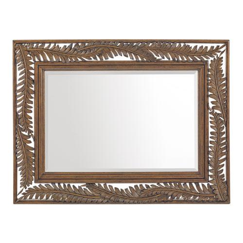Bali Hai Brown and Silver Seabrook Landscape Mirror