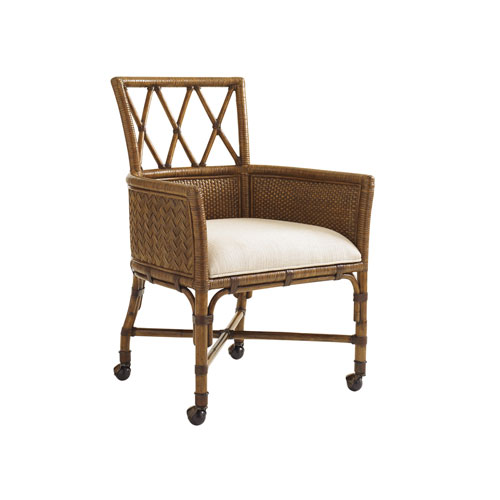 Bali Hai Brown and Ivory Tarpon Cove Game Chair