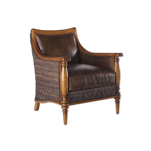 Island Estate Brown Agave Leather Chair