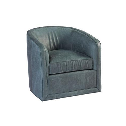 Los Altos Blue Colton Leather Swivel Chair