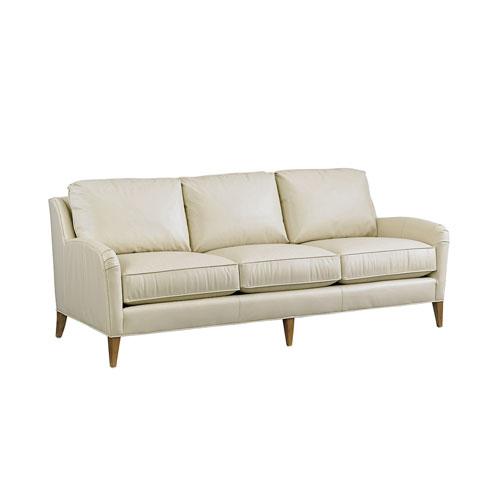 Twin Palms White Coconut Grove Leather Sofa