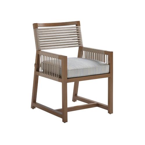 St Tropez Natural Teak Arm Dining Chair
