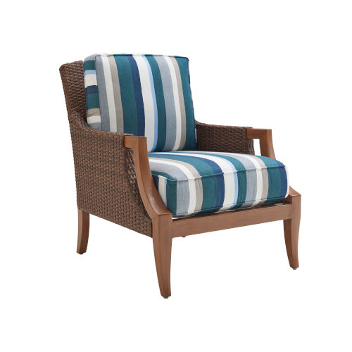 Harbor Isle Brown and Blue Lounge Chair