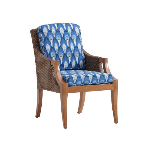 Harbor Isle Brown and Blue Arm Chair