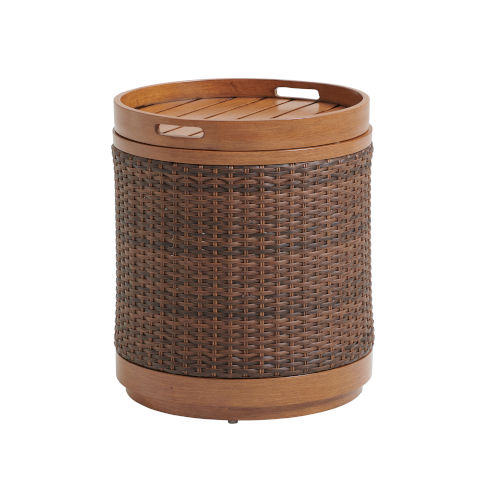 Harbor Isle Brown Round End Table