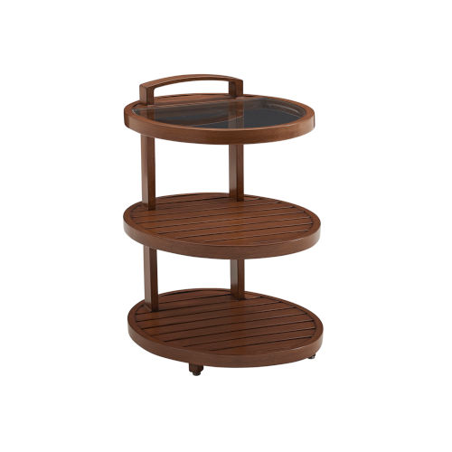 Harbor Isle Brown Tiered End Table
