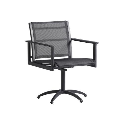 South Beach Dark Graphite Swivel Rocker Chair