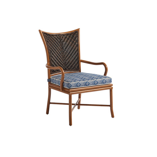 Island Estate Lanai Brown and Blue Dining Arm Chair