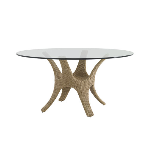 Aviano Brown Dining Table with Glass Top