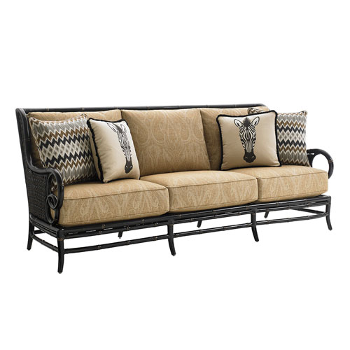 Marimba Black and Gold Sofa