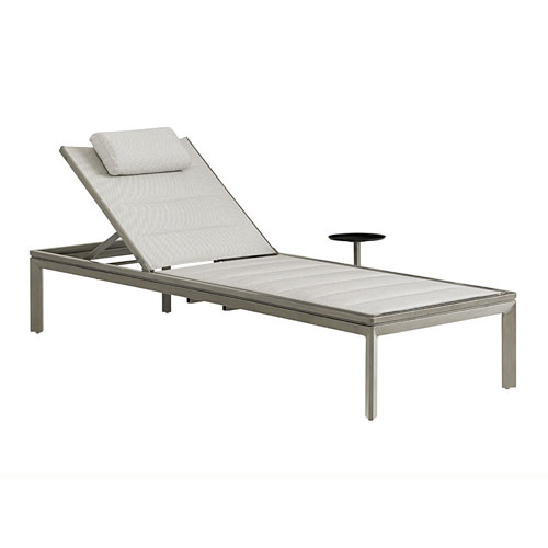 Del Mar Gray Chaise Lounge