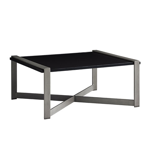 Del Mar Gray and Black Cocktail Table