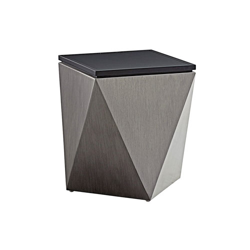 Del Mar Gray and Black Accent Table