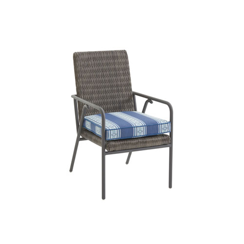 Cypress Point Ocean Terrace Brown and Blue Small Dining Chair