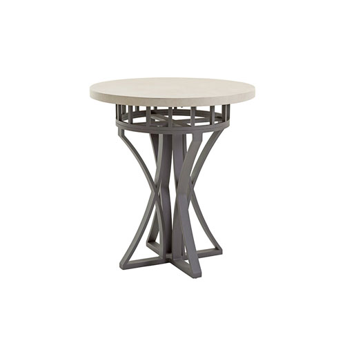 Cypress Point Ocean Terrace Aged Iron and Ivory Bistro Table
