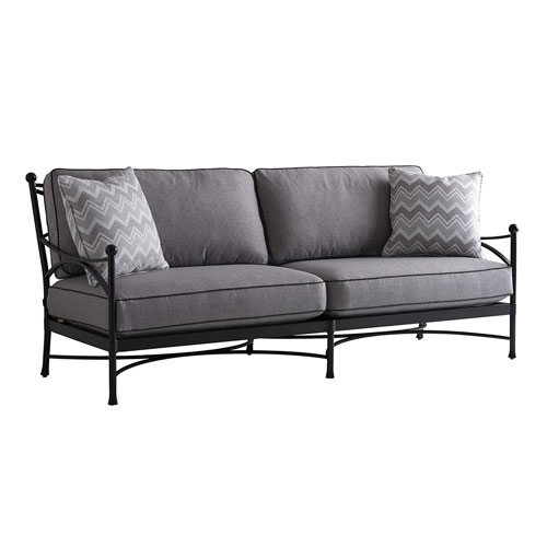 Pavlova Graphite and Gray Sofa