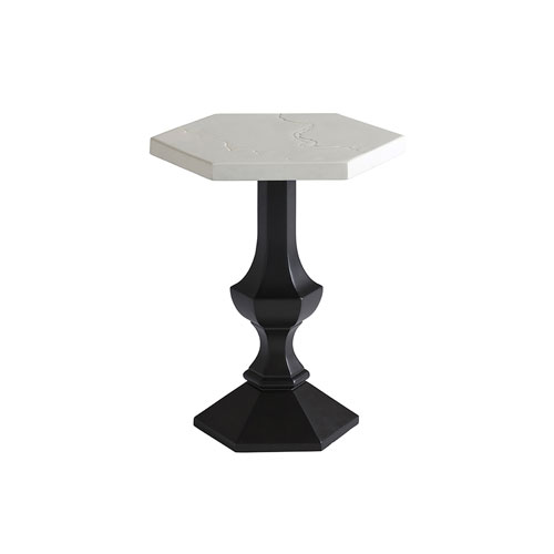 Pavlova Graphite and White Accent Table