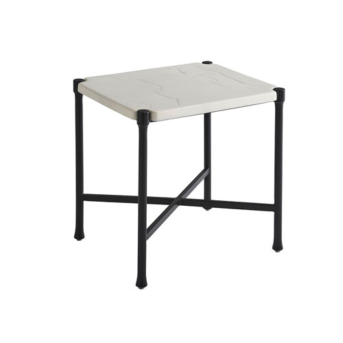 Pavlova Graphite and White Rectangular End Table