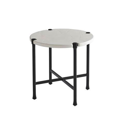 Pavlova Graphite and White Round End Table