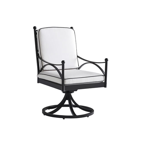 Pavlova Graphite and White Swivel Rocker Dining Chair