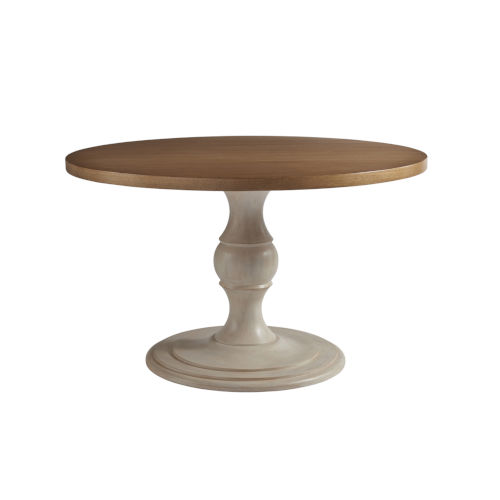 Newport Sandstone Sailcloth 48-Inch Corona Del Mar Round Center Table