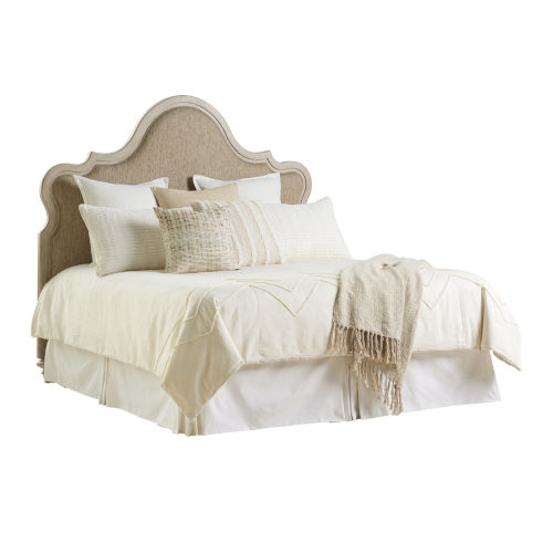 Malibu Warm Taupe Zuma Upholstered Queen Headboard