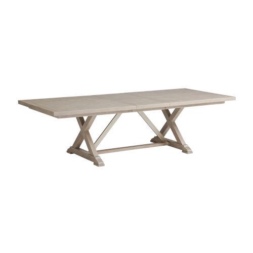 Malibu Warm Taupe 88-Inch Rockpoint Rectangular Dining Table