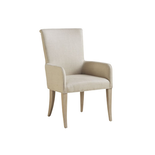 Malibu Warm Taupe Serra Upholstered Arm Chair