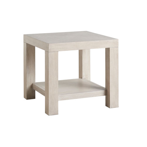 Malibu Warm Taupe 24-Inch Surfrider End Table